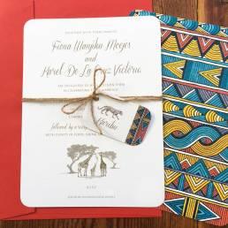 Safari wedding invitations for an African wedding