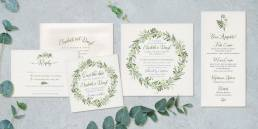 Unique wedding stationery with a rustic design