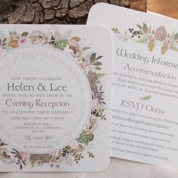 An example of a wedding evening invitation in the Lord of the Rings design