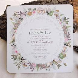 A wedding invitation in a Lord of the Rings style