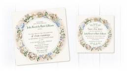 Lord of the rings wedding invitation and save the date