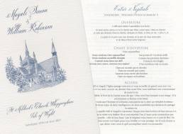 Example of a bilingual wedding order of service in English and French