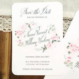 Summer roses wedding save the date