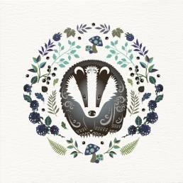 a badger card design