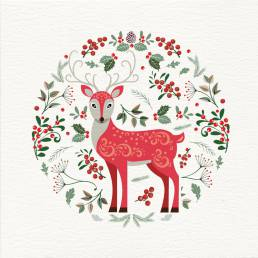 A deer Christmas card