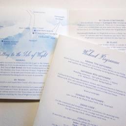 Wedding itinerary and information sheet