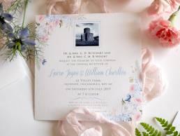 Evening invitation for a summer wedding