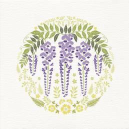 contemporary wisteria card